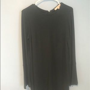 Loft Black dress long sleeve